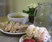 afternoon tea at the Birdhouse tearoom, near Jedburgh