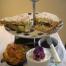 Cream tea at the Birdhouse tearoom, Nr Jedburgh, Scottish Borders