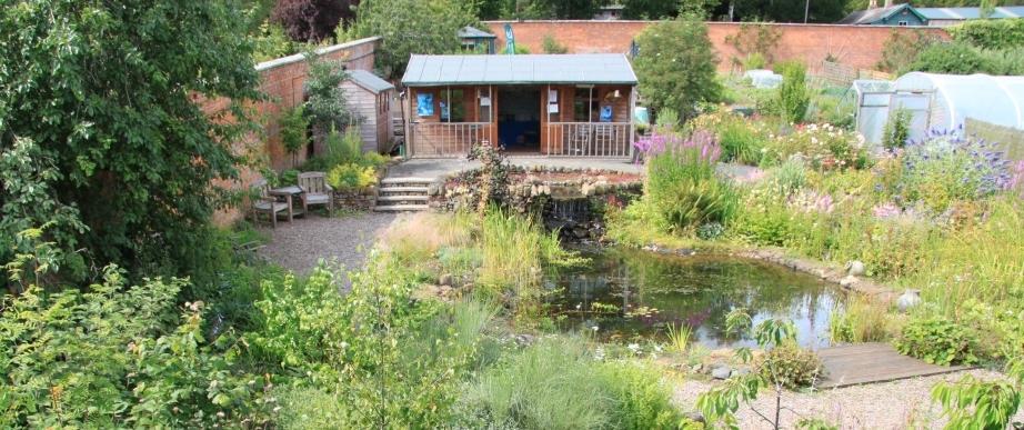 View over Woodside Garden, Scottish Borders