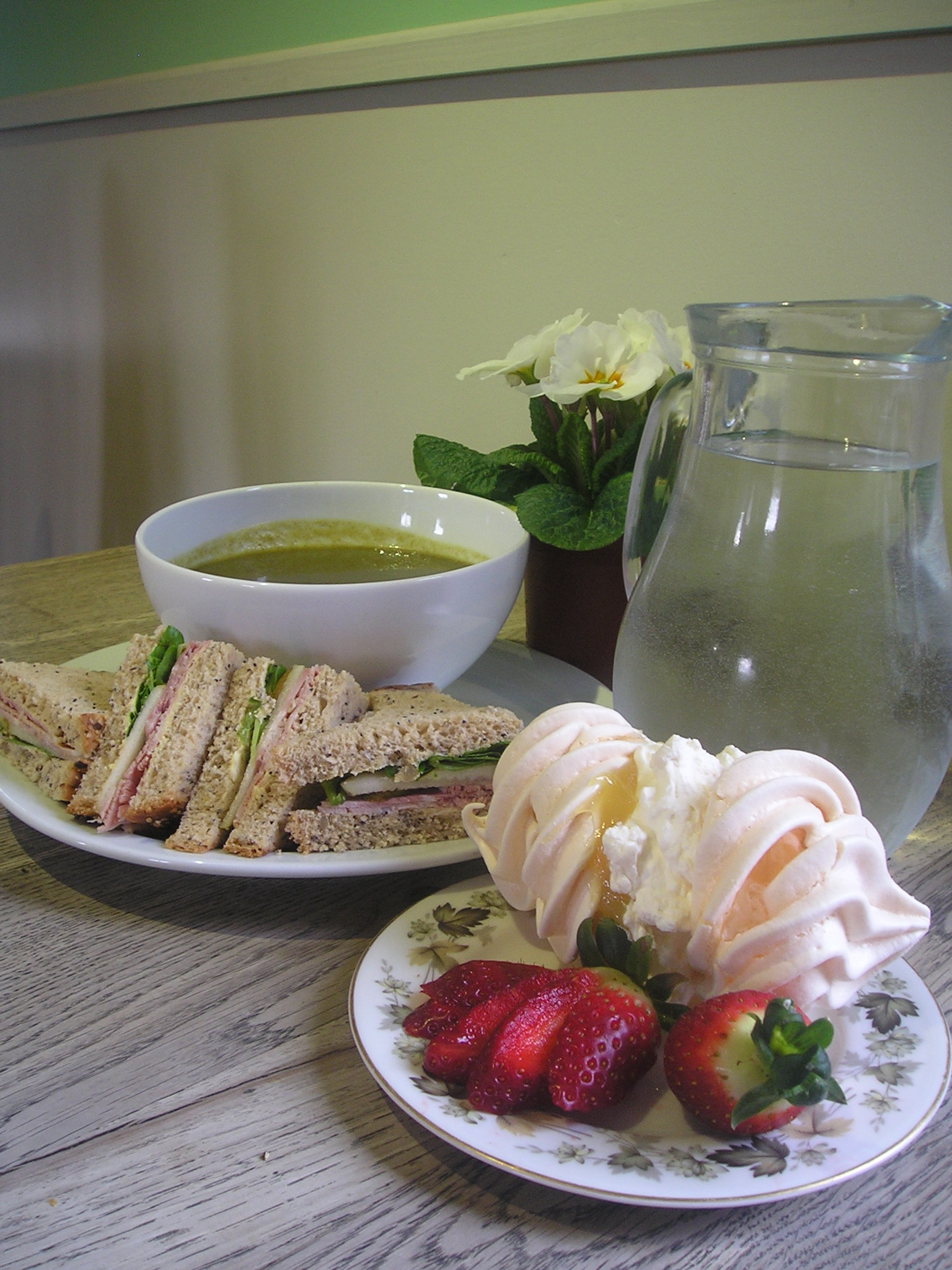 afternoon tea at the Birdhouse tearoom, near Jedburgh