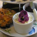 Cream tea at the Birdhouse tearoom, Nr Jedburgh, Scottish Borders