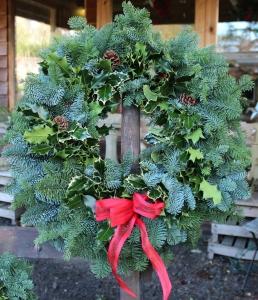 Christmas wreath making workshop Scottish Borders