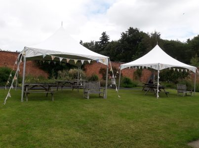 seating area at Woodside garden